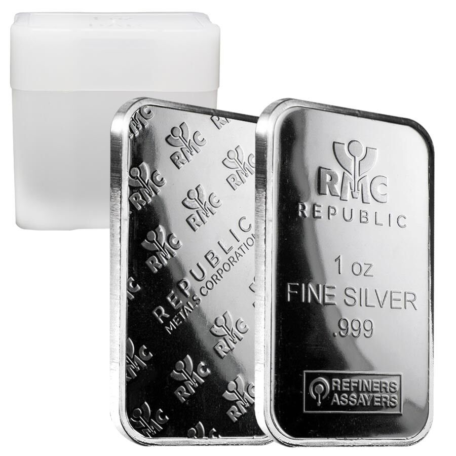 Roll Of 20 1 Oz Republic Metals Rmc Silver Bar 999