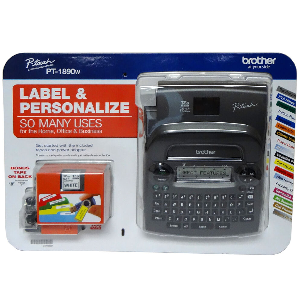 This is an image of Handy Brother P Touch Home and Hobby Label Maker Tape