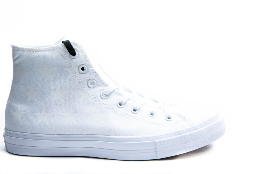 c45dd874e82be2 Details about CONVERSE CHUCK TAYLOR ALL-STAR II HI MENS BASKETBALL SHOES  WHITE SILVER 151158C