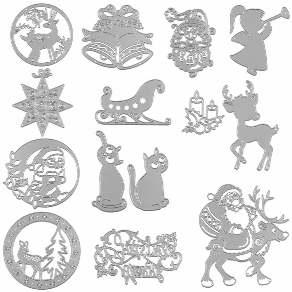 metal diy cutting dies stencil for christmas card decor