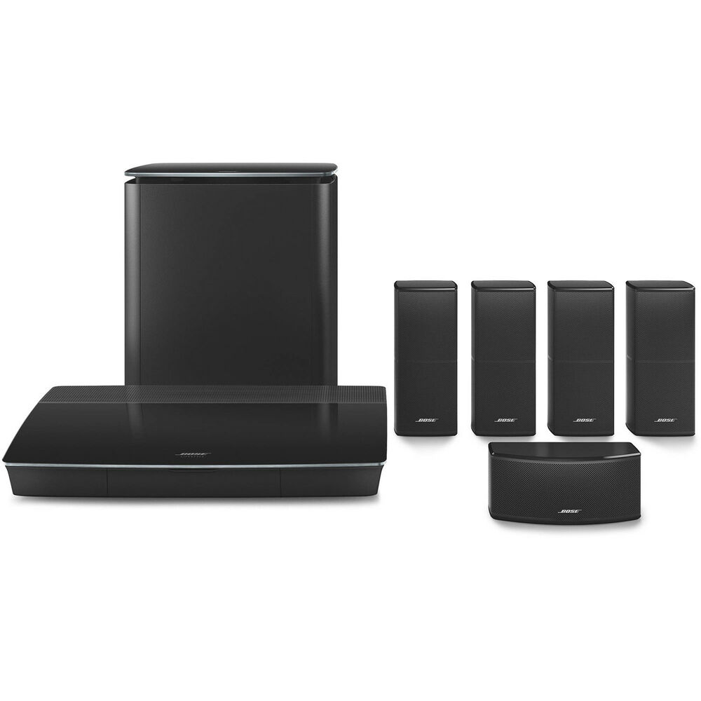 bose lifestyle 600 home theater system with jewel cube speakers black ebay. Black Bedroom Furniture Sets. Home Design Ideas