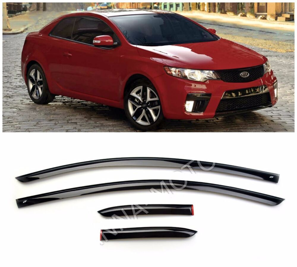 Car Bumper Guard >> For Kia Cerato Koup 2009-2012 Window Side Visors Sun Rain Guard Vent Deflectors | eBay