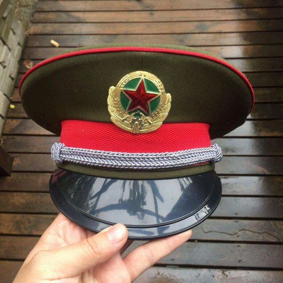 Details about PLA Peoples Force ( Reserve ) M87 OFFICER VISOR HAT CHINA  military chinese (H15) 0d22eceaa44