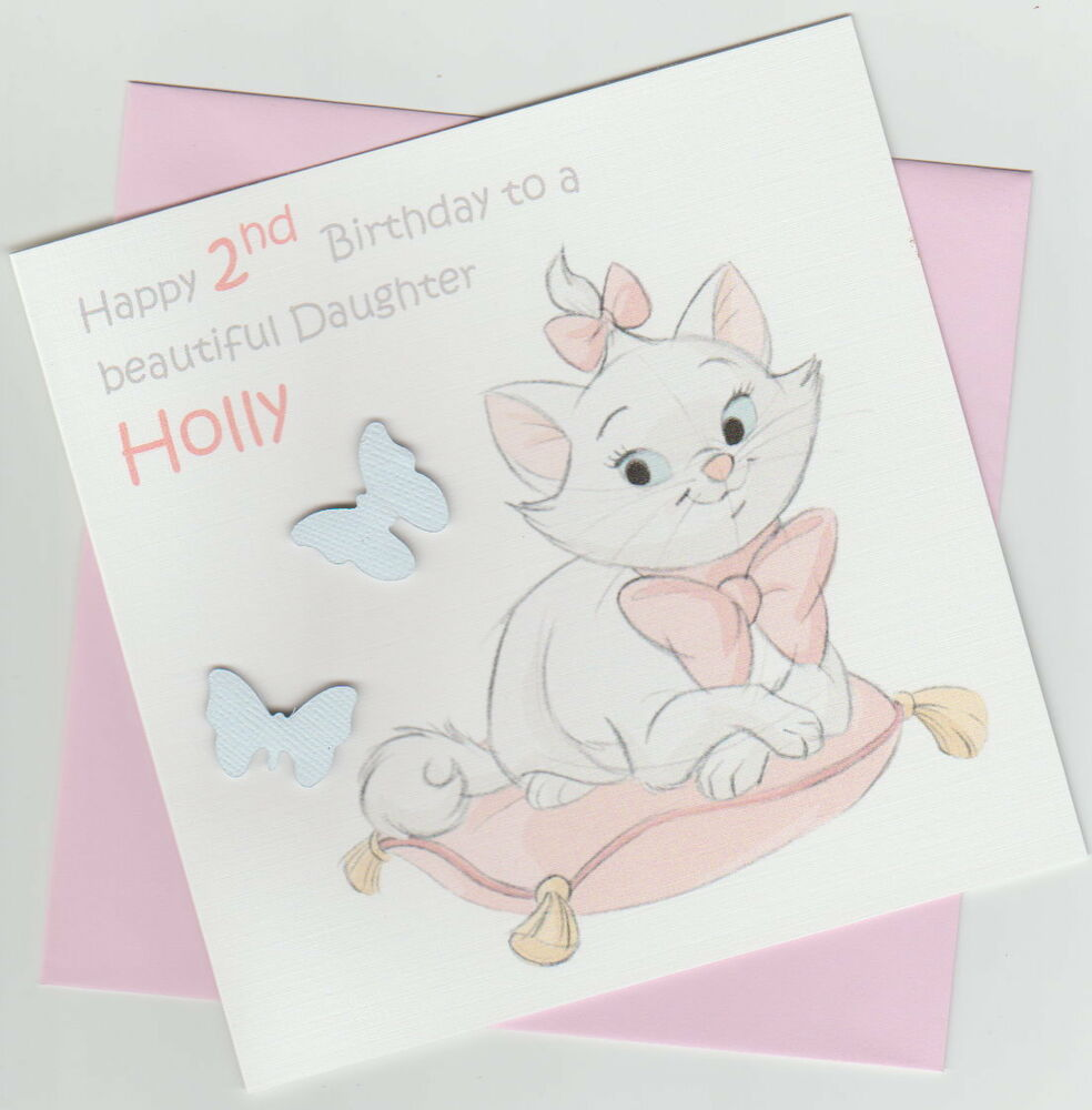 Details About Personalised Aristocats Marie 1st 2nd 3rd 4th Birthday Card
