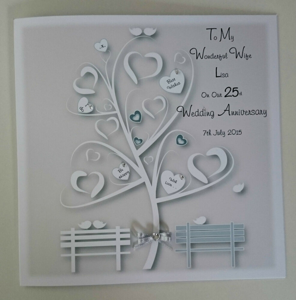 Silver Wedding Gifts For Husband: **Large Personalised On Our 25TH SILVER Wedding