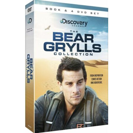 img-THE BEAR GRYLLS COLLECTION - BOOK & 4 DVD SET, ESCAPE FROM HELL & TRUE GRIT BOOK
