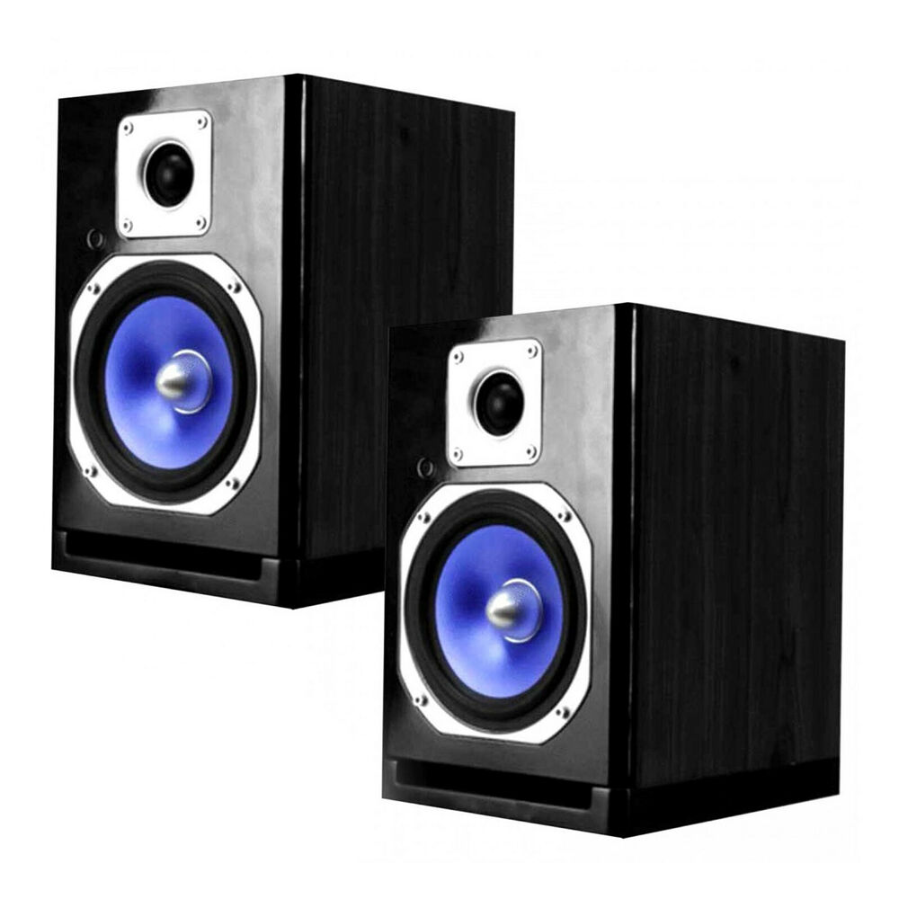 powered wireless fully bluetooth studio monitor speakers with 5 woofers pair ebay. Black Bedroom Furniture Sets. Home Design Ideas