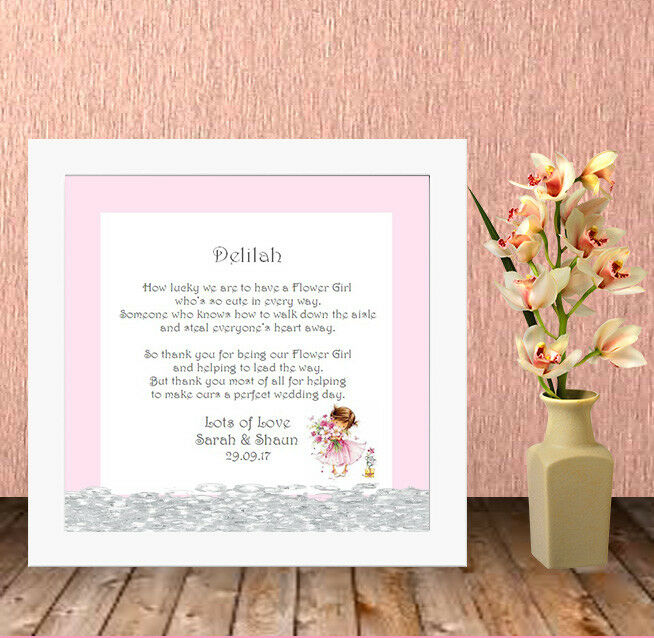 Personalised Box Frame,Wedding,Flower Girl,Bridesmaid,Favour,Gift ...