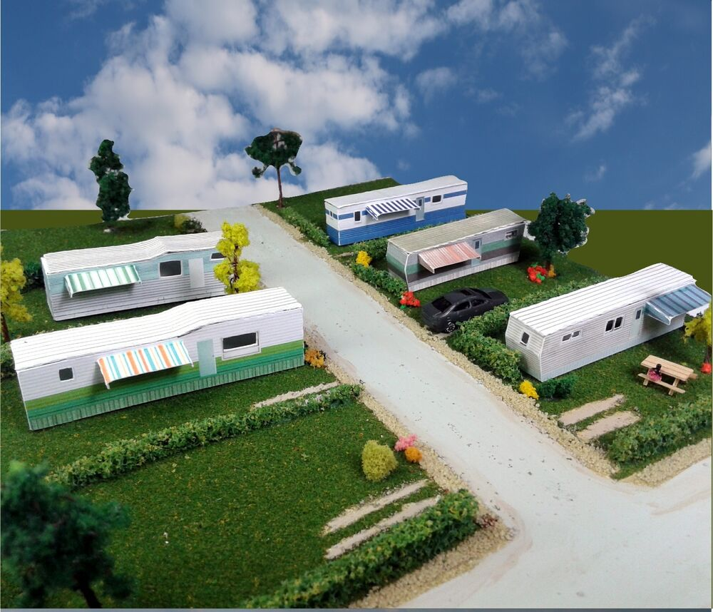 Z Scale Buildings Mobile Home Trailer Park Homes