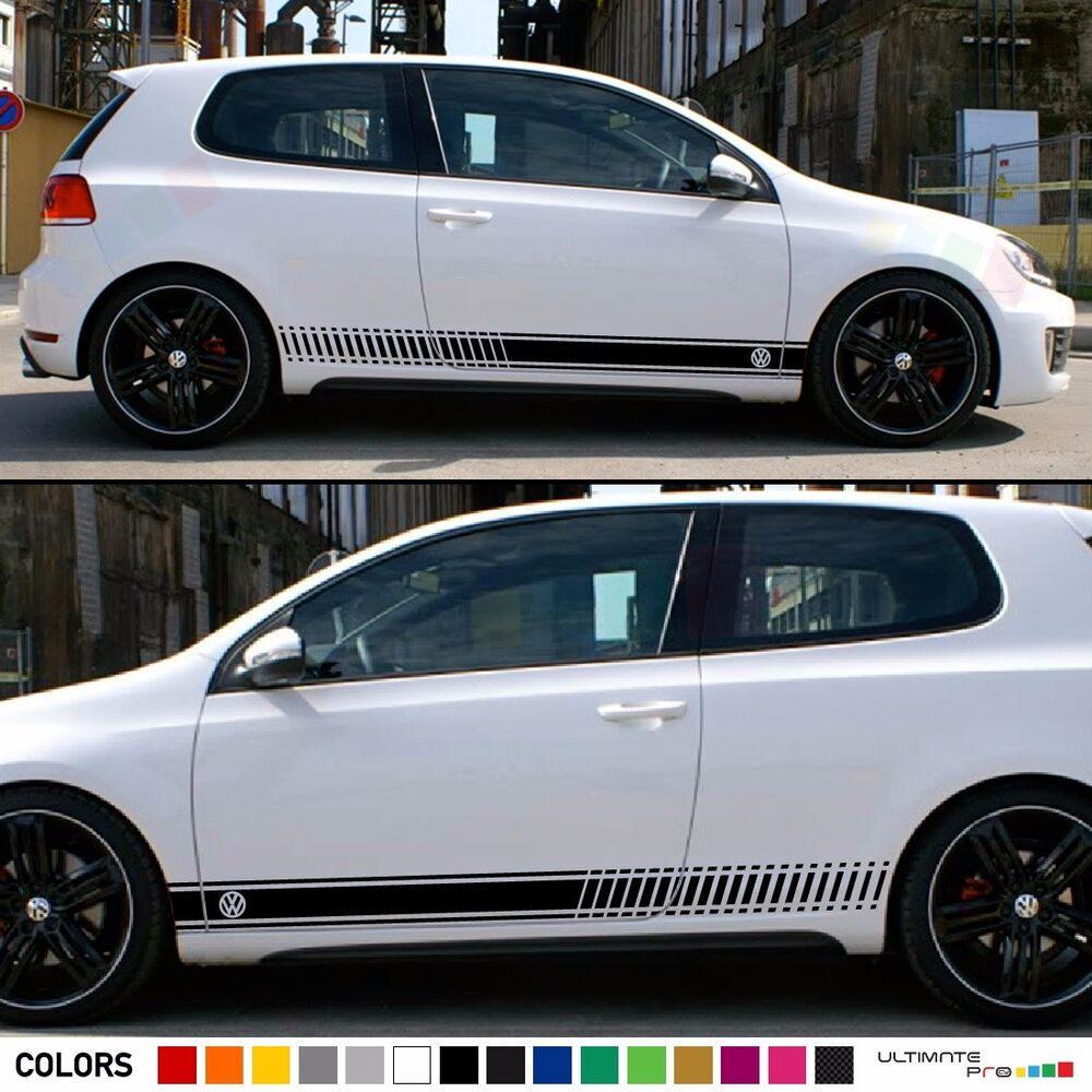 stickers decal for volkswagen vw golf stripes graphics. Black Bedroom Furniture Sets. Home Design Ideas