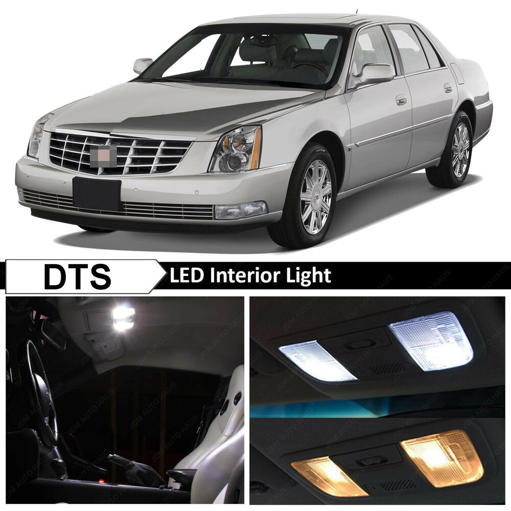 14x white led lights interior package kit for 2006 2011 cadillac dts ebay. Black Bedroom Furniture Sets. Home Design Ideas