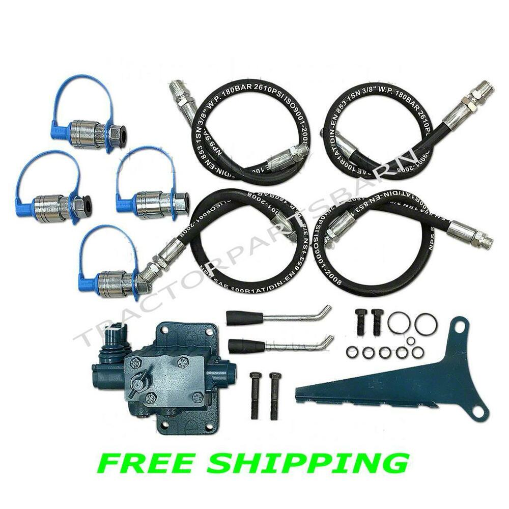 Tractor Hydraulic Remote : Ford tractor new double spool hydraulic remote valve kit