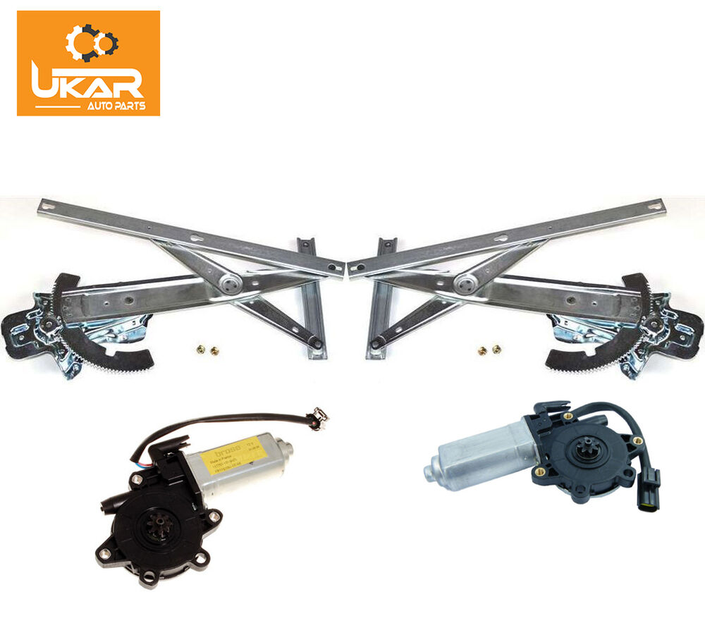 Front lh rh side window regulator mechanism and motors for Window mechanism