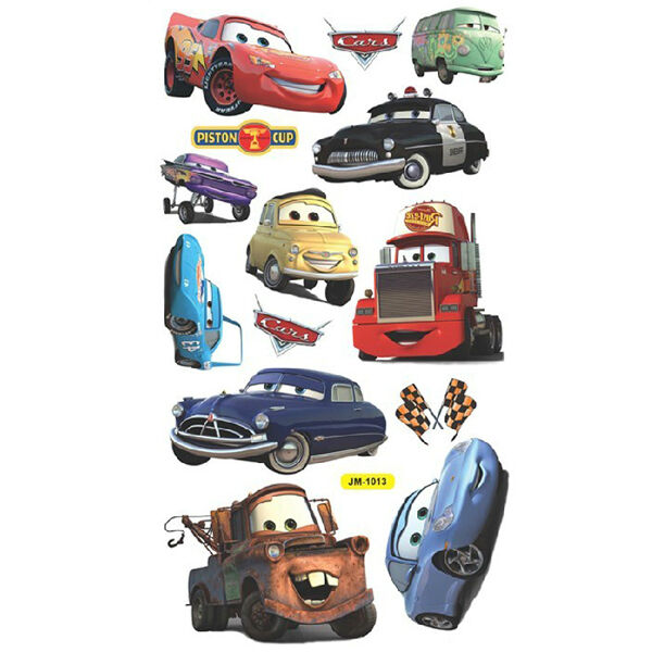 Bedroom Decor Nz Boy Bedroom Cars Brown Leather Bed Bedroom Ideas Small 1 Bedroom Apartment Floor Plans: Disney Movie CARS Wall Stickers Boys Lightning McQueen