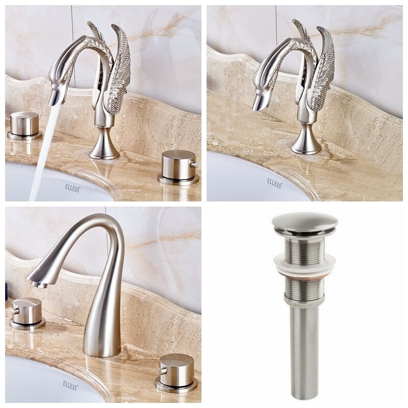 brushed nickel bathroom sink brushed nickel bathroom brass faucet vanity sink mixer tap 17548