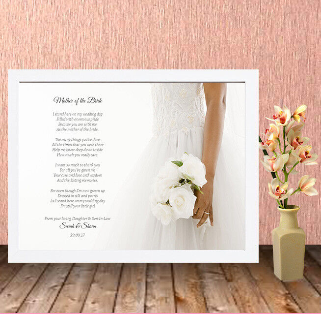 Personalised High Quality Box Frame Printweddingmother Of The