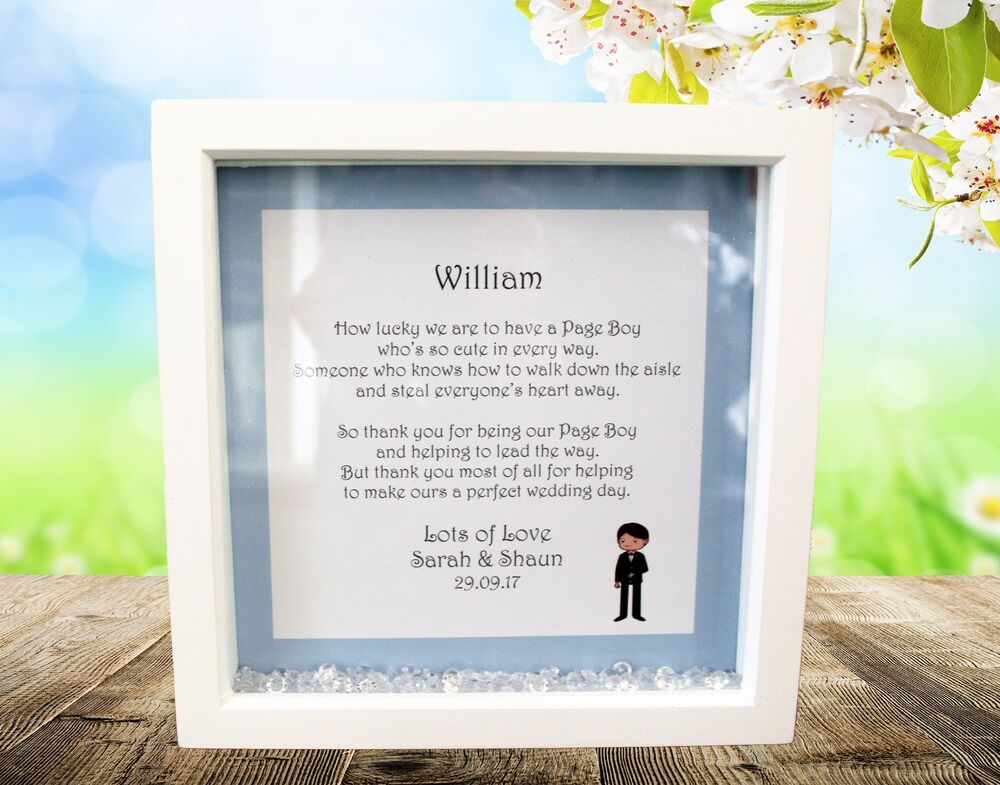 Personalised Box Frame,Wedding,Page Boy,Ring Bearer,Favour,Gift ...