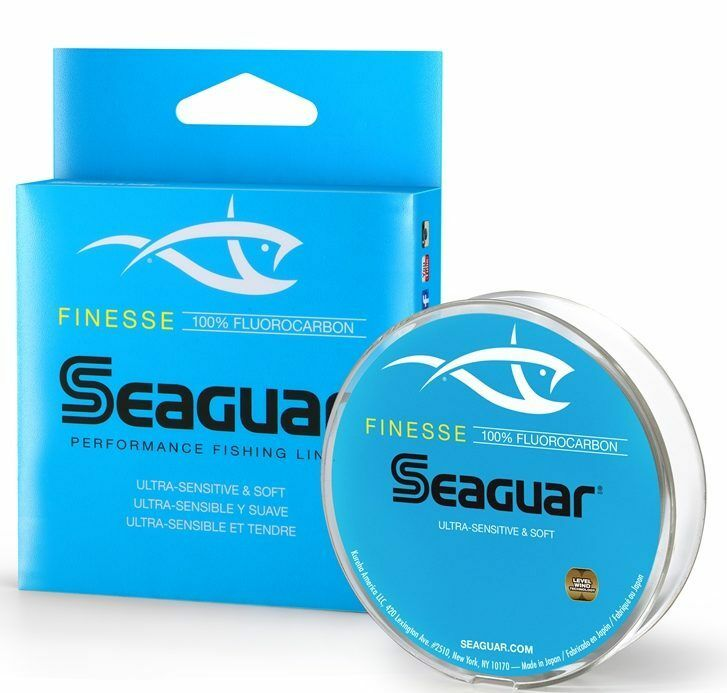 Seaguar finesse fluorocarbon fishing line 150 yards select for Fishing line test
