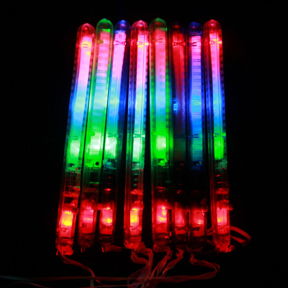 Light up foam sticks led multi color flashing rally rave for Led wands wholesale