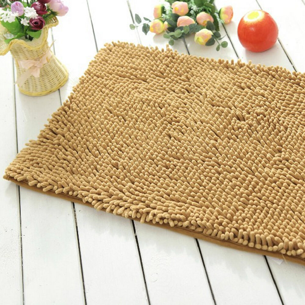 Memory Foam Bath Mats Bathroom Soft Shaggy Shower Rugs