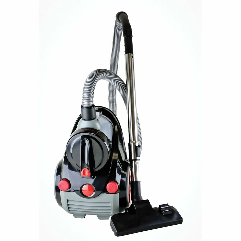Cyclonic Bagless Canister Vacuum Cleaner W Hepa Filter