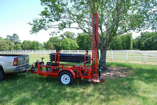Water well drilling machine geothermal drill rig pump