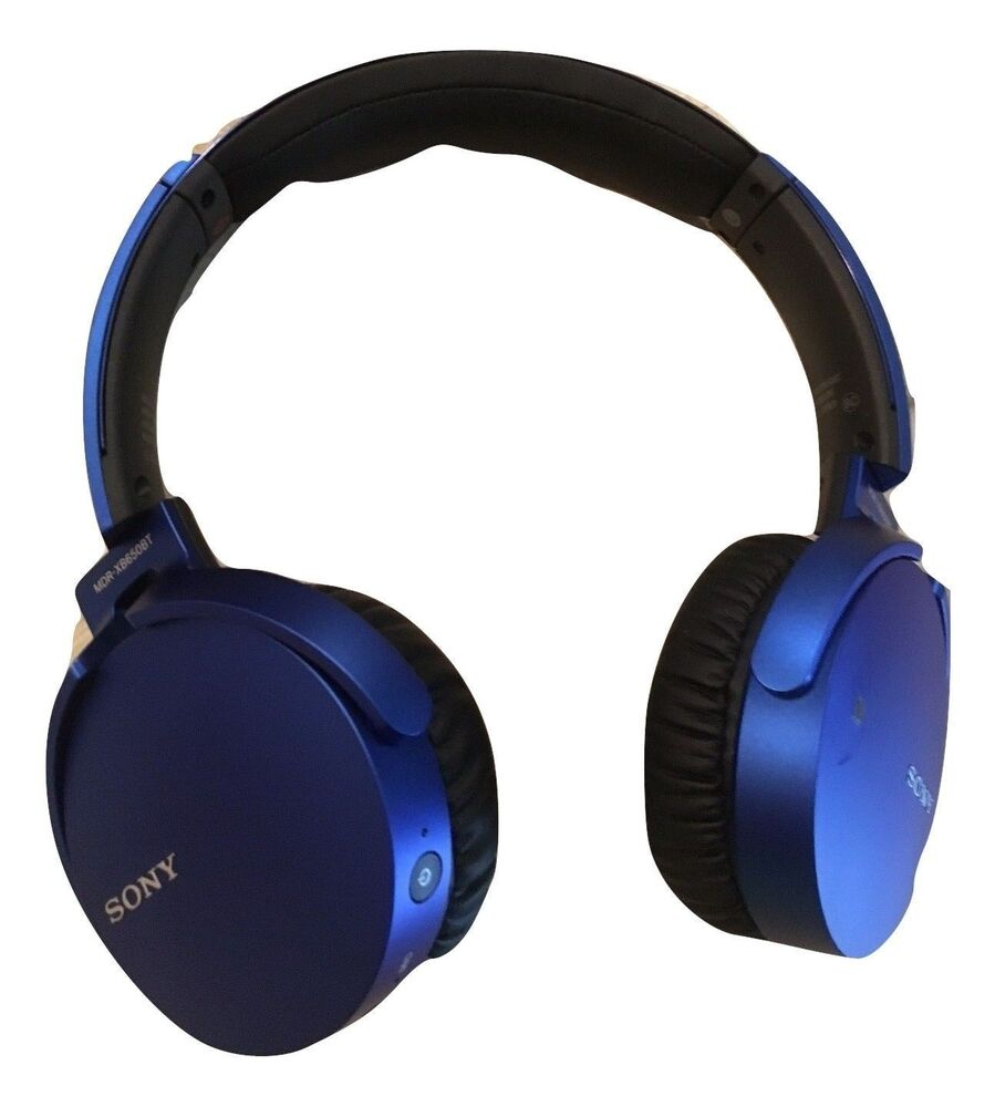 Sony MDR-XB650BT XB Series Wireless Bluetooth Headphones Extra Bass Blue Or Blk