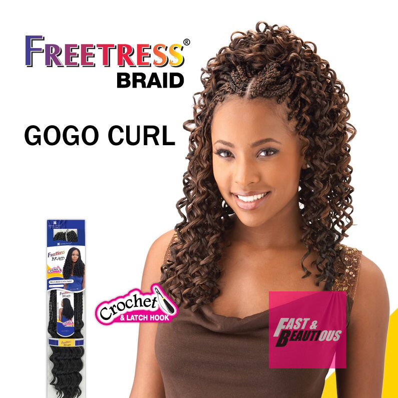 Freetress Premium Synthetic Hair Braid Crochet Gogo Curl