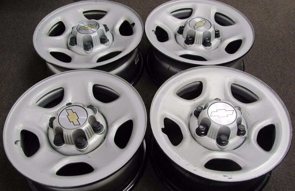 Chevy Silverado 1500 Factory Oem Steel Wheels Rims 1999