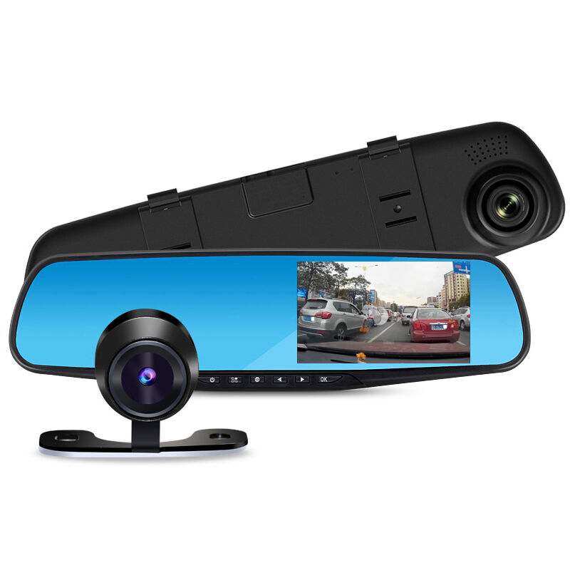 1080p car rearview dvr dual dash cam camera vehicle front rear hd video recorder ebay. Black Bedroom Furniture Sets. Home Design Ideas