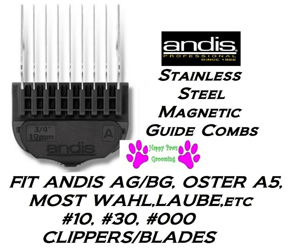 Andis stainless steel magnetic attachment guide blade comb for Andis dog clipper blade guide