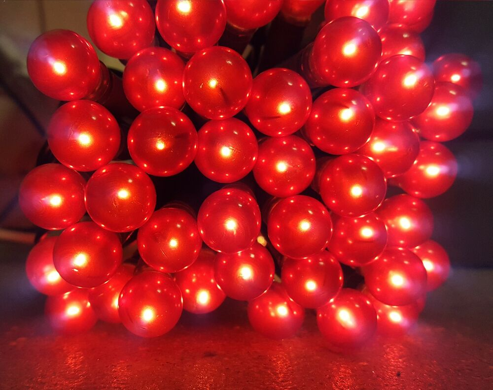 50/100 Red Berry Christmas Llights Berry Shaped Fairy