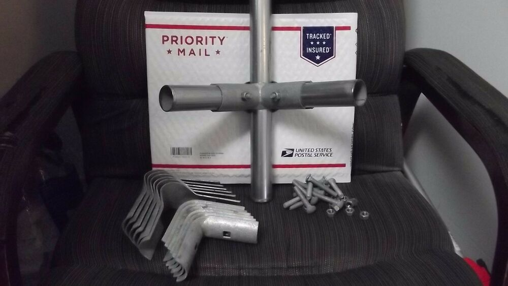 1 3 8 Quot Galvanized Corner Clamps For Chain Link Fence 4