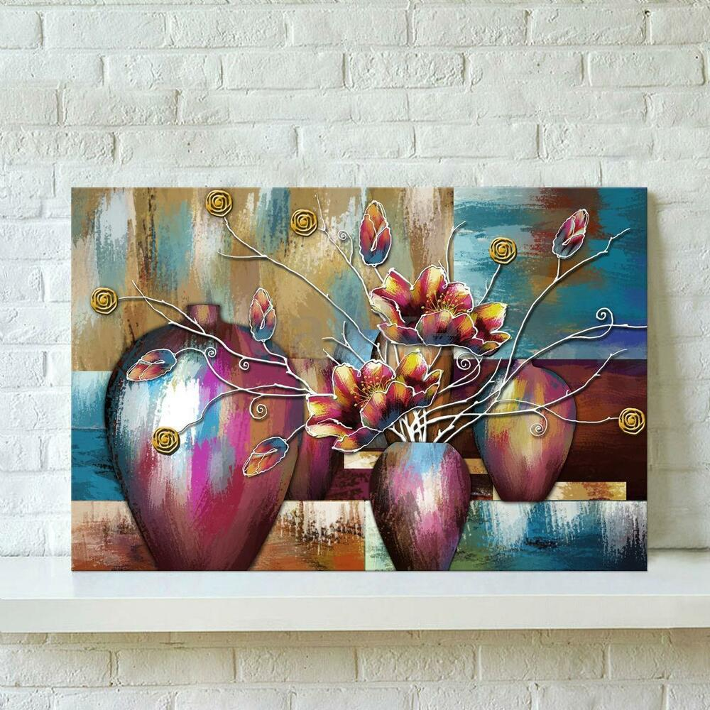 unframed watercolor flower abstract wall oil painting canvas print home decor ebay. Black Bedroom Furniture Sets. Home Design Ideas