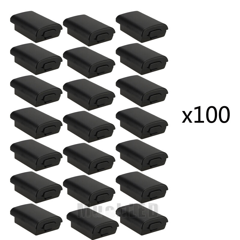 100 Pcs Battery Pack Cover Shell Case Kit For Xbox 360 Wireless