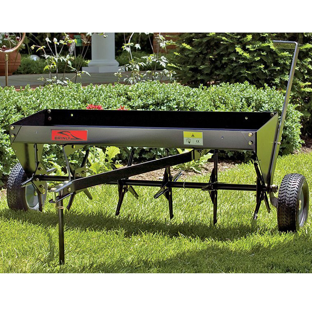 Lawn Tractor Towing : Plug aerator lawn tractor attachment tow behind atv soil