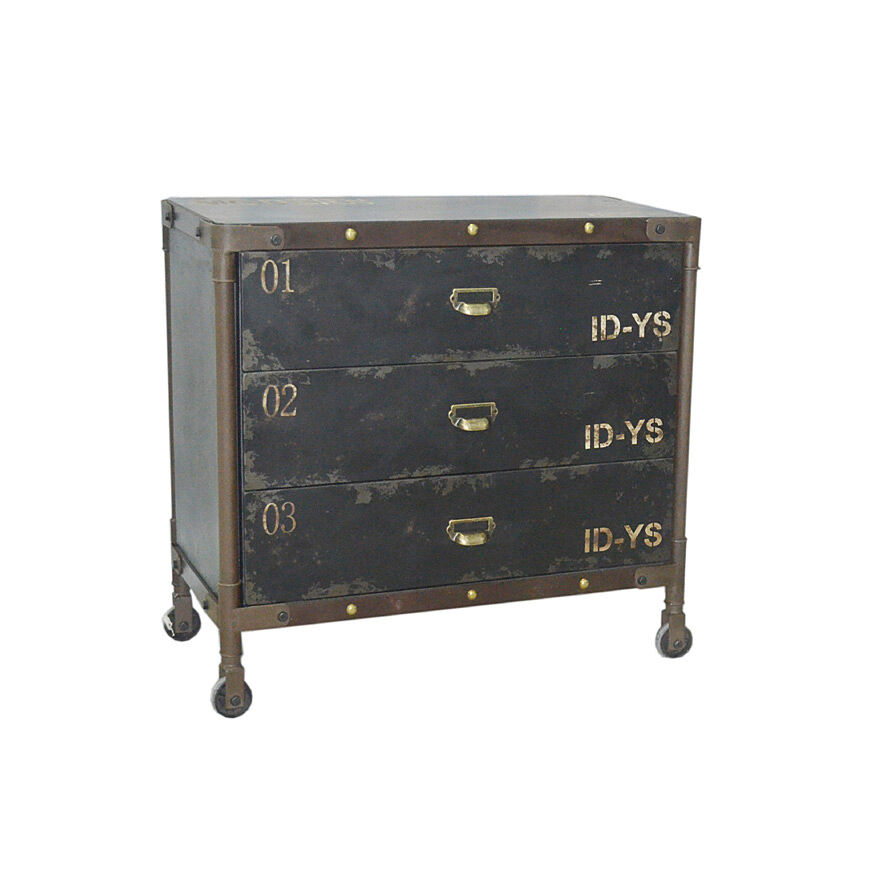 loft kommode schrank design industrie vintage sideboard metall industrial holz m ebay. Black Bedroom Furniture Sets. Home Design Ideas