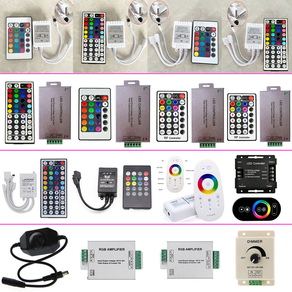led controller wireless ir rf amplifiers dimmer rgb for. Black Bedroom Furniture Sets. Home Design Ideas