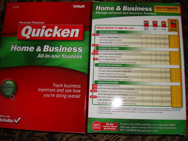 Intuit quicken 2008 home and business great deals