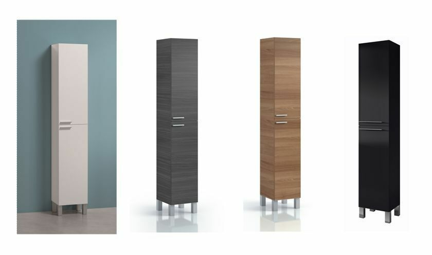 Milano Tall Narrow Bathroom Cupboard Storage Cabinet