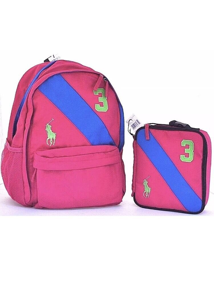 POLO RALPH LAUREN BIG PONY GIRL SCHOOL BACKPACK SPORT ...