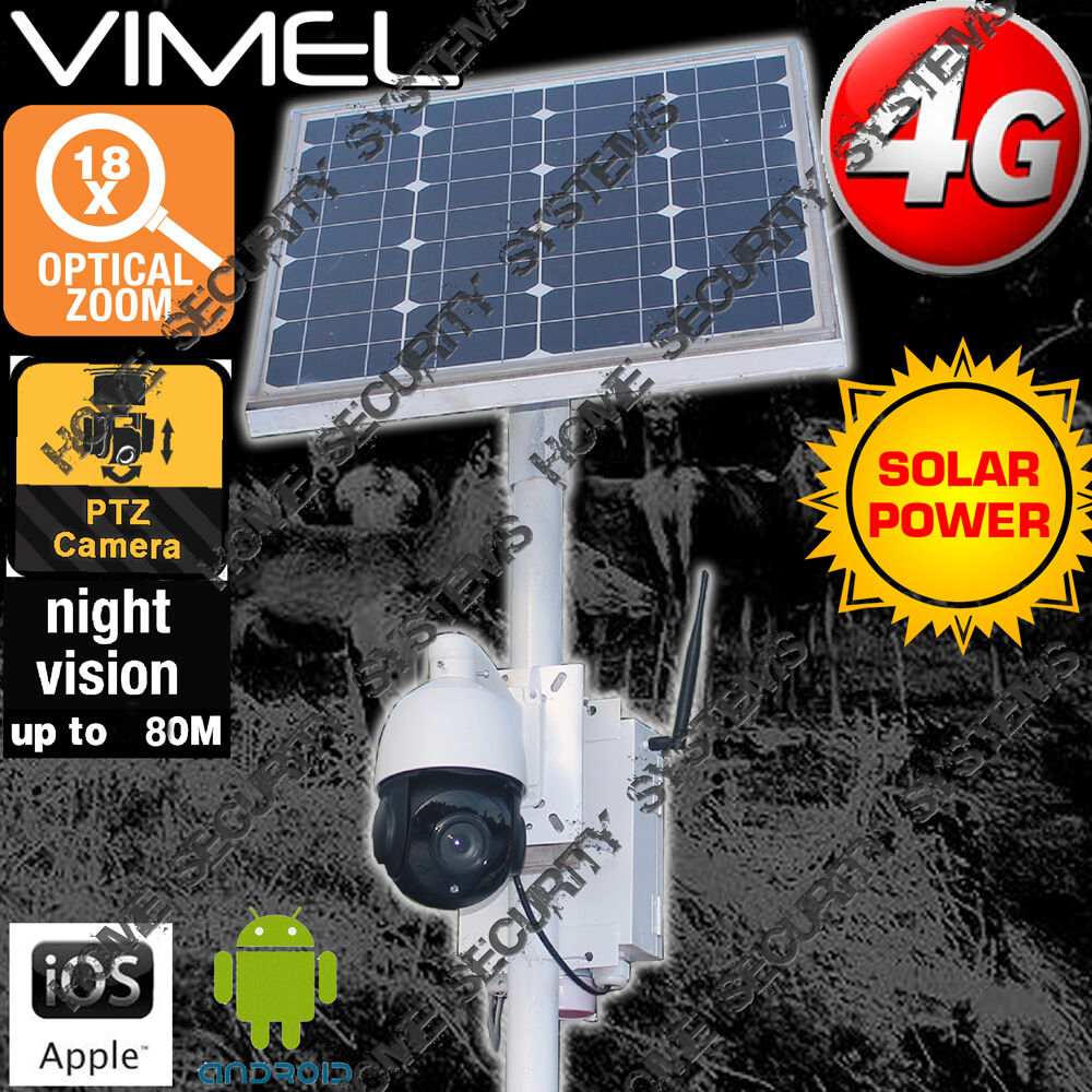 Farm Security Camera 4g Solar Home House Ptz 18xoptical