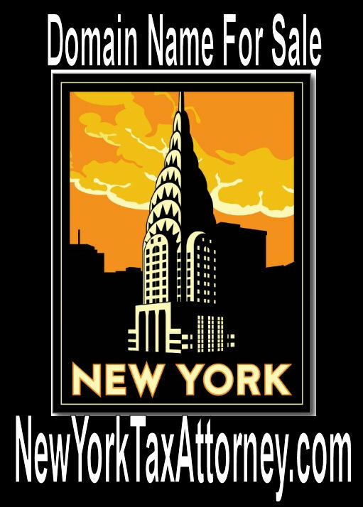 New York Tax Attorney .com Income Taxes Business Forms Domain Name Website URL - eBay
