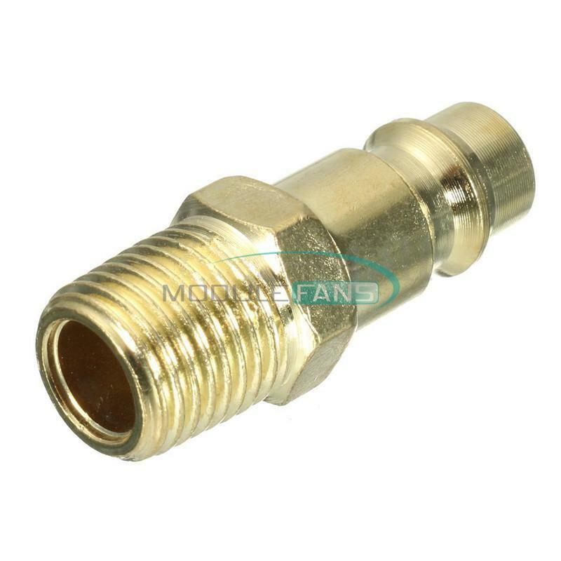 1 4 Bsp Euro Air Line Hose Compressor Fittings Connector Mf Ebay