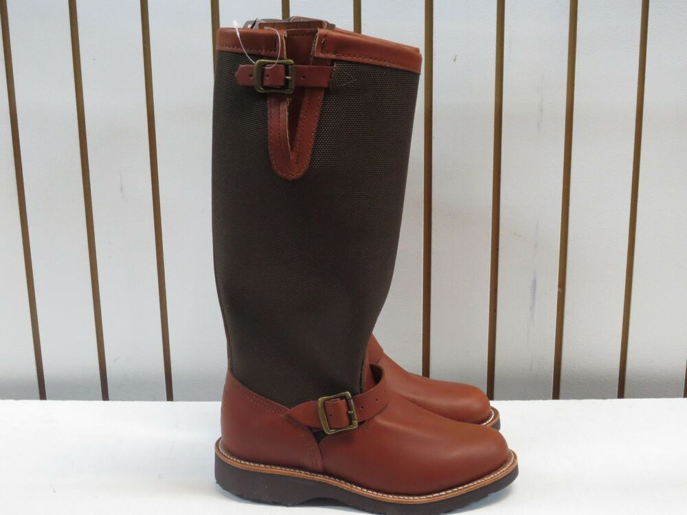 womens chippewa 15 quot brown snake proof slip on boot size 5