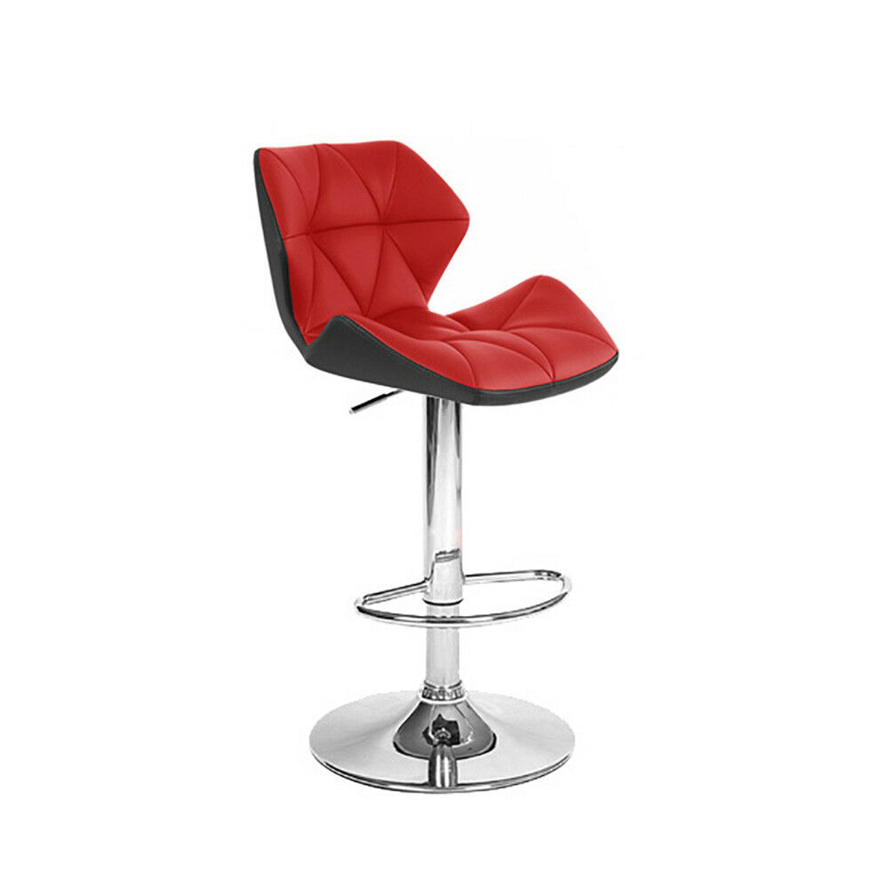 LEATHER BAR/COUNTER STOOL ADJUSTABLE TWO-TONE SPYDER
