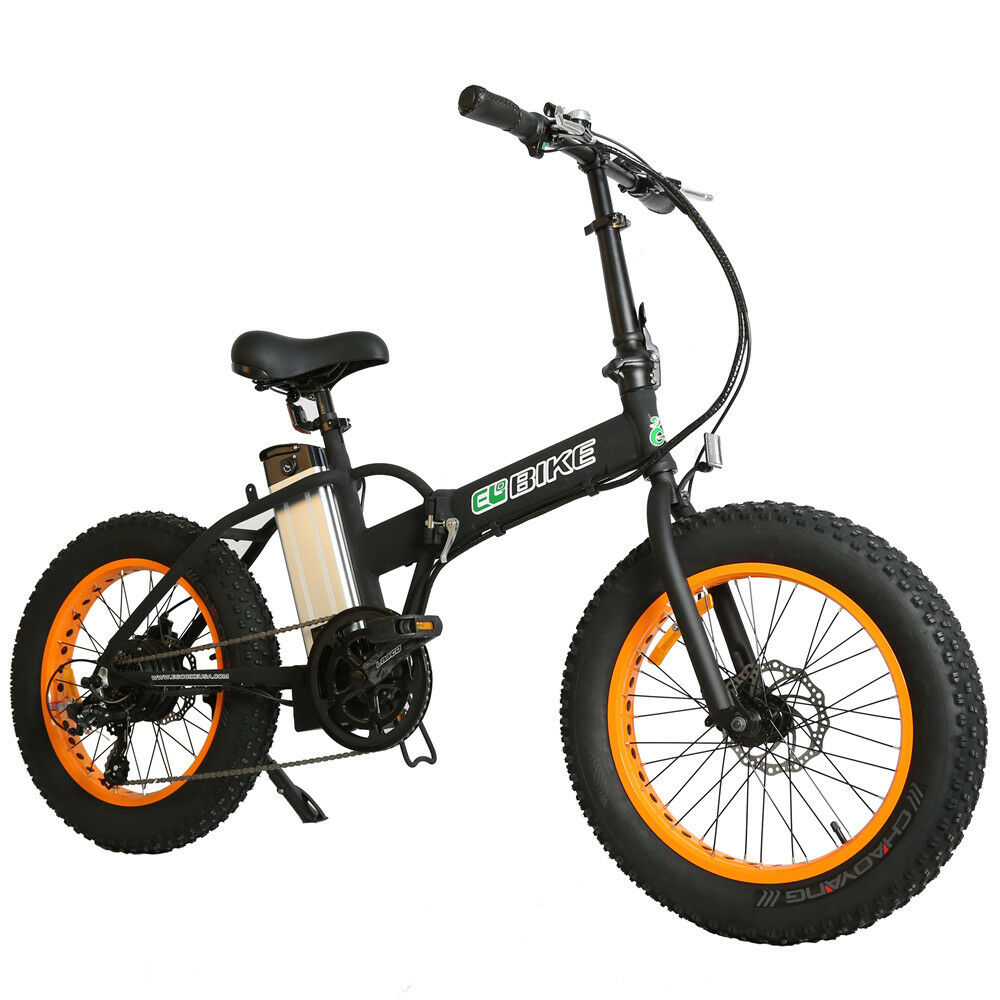electric folding bike fat tire bicycle beach snow. Black Bedroom Furniture Sets. Home Design Ideas