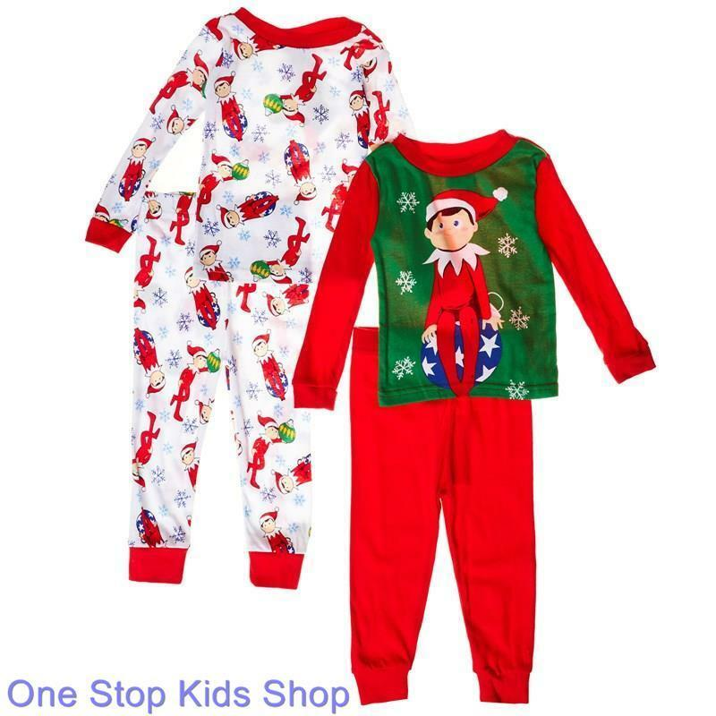 elf on the shelf 2t 3t 4t 4 6 8 10 pjs set christmas. Black Bedroom Furniture Sets. Home Design Ideas
