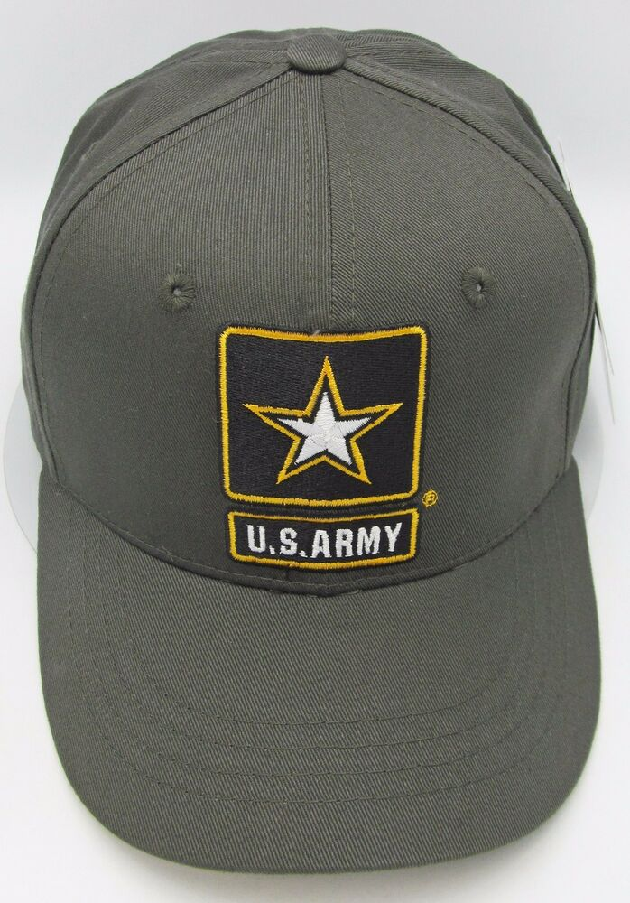b8a21ffca89 Details about United States U.S. ARMY Cap Hat US Military Army Star Patch  Logo USA Olive NWT