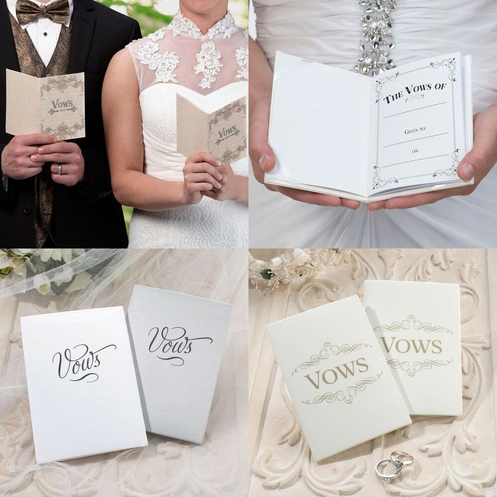Wedding Vow Ideas For Groom: Wedding Vows Booklets Bride Groom Ceremony Supplies His